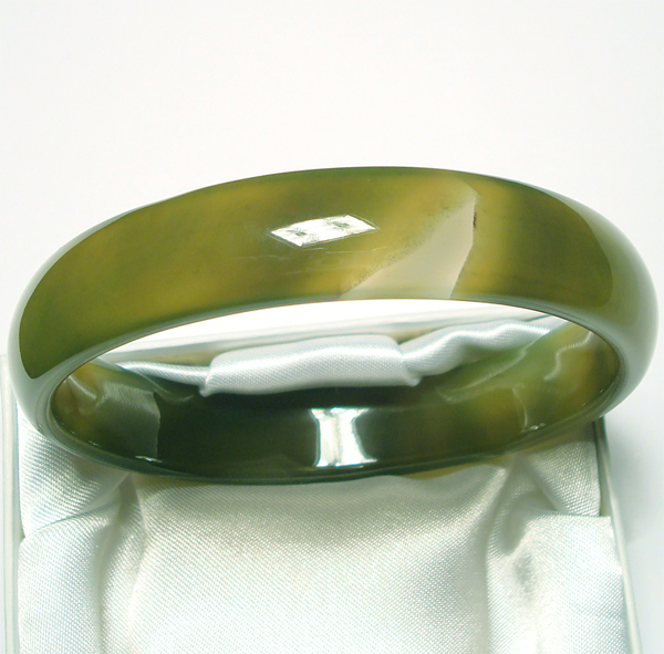 green agate bangle