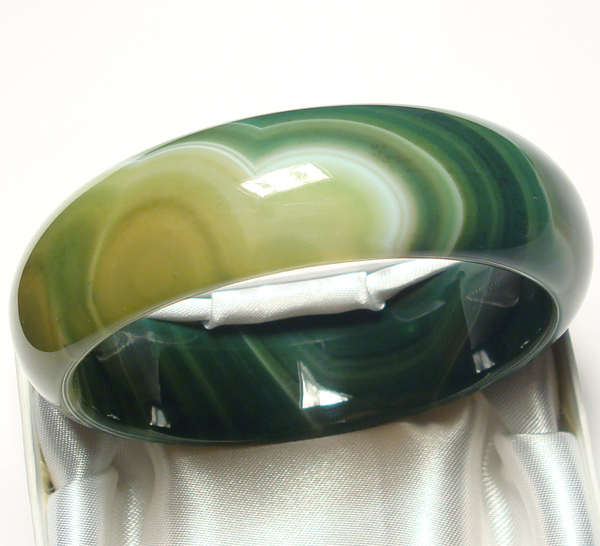 green agate bangle bracelet