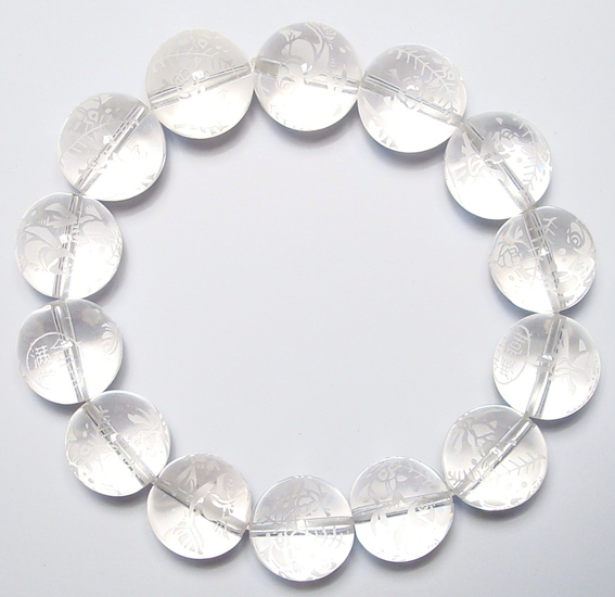 natural clear quartz crystal beads bracelet