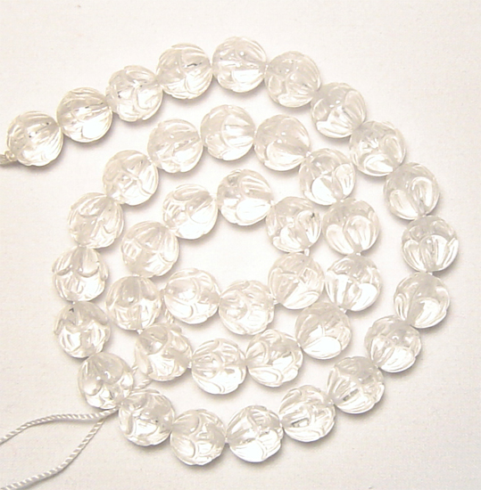 natural clear quartz crystal beads