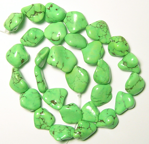 gaspeite nugget beads