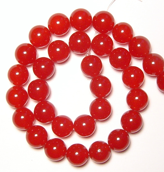 red jade bead